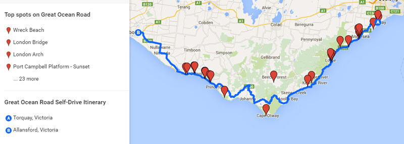 Great Ocean Road Drive 2019 Self Itinerary With Map Of Attractions