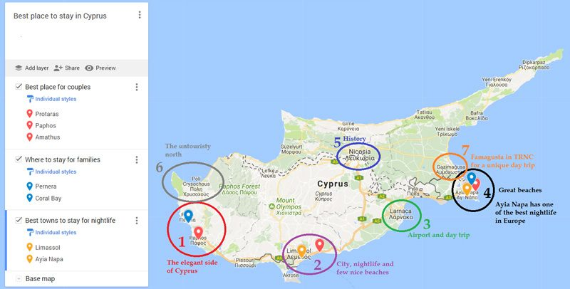 Best place to stay in Cyprus 2019 [for couples, families, young ...